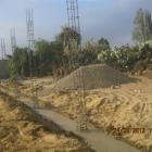 Baubeginn der Mauer 2012 für das neue Zentrum