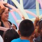 Weihnachtsfeier 2011 mit Luftballons